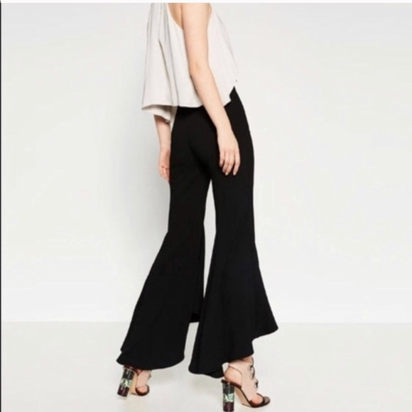 cbc04eda Zara Pants | Black High Waisted Crop Flare | Poshmark